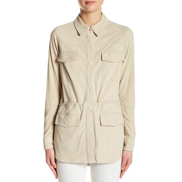 Vince Jackets & Blazers - Vince Lamb Leather Suede Safari Jacket